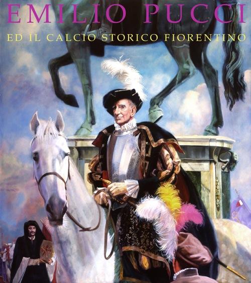 Emilio Pucci's equestrian portrait for Calcio Storico Fiorentino
