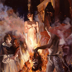 GIORDANO BRUNO BURNING (detail) (2000)