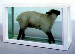 Damien Hirst's Away from the Flock 1994