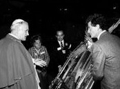 HH Pope John Paul II with Andre Durand